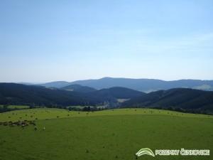 Pozemky Čenkovice - pohled na Bukovou horu