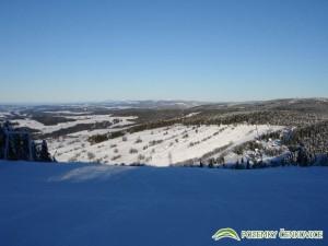 Pozemky Čenkovice - pohled na Orlické hory, Krkonoše z Bukové hory