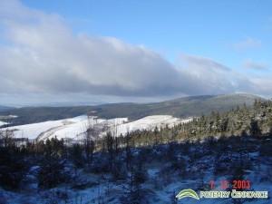 Pozemky Čenkovice - pohled na Suchý vrch