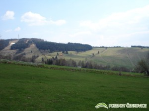 Pozemky Čenkovice - pohled na pozemky z jihu