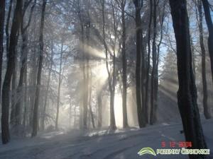 Pozemky Čenkovice - východ slunce Buková hora